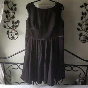 OOAK Home Tailored Black Mid-century Dress
